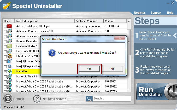 windows 10 how to uninstall a control panel application