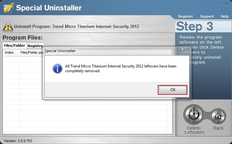 Trend Micro Titanium Internet Security Uninstall