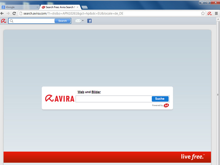 Search Free Images Avira SearchFree Toolbar
