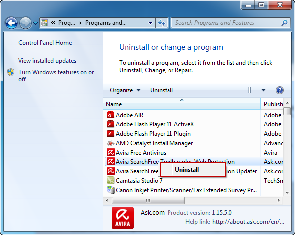 Uninstall_Avira_SearchFree_Toolbar