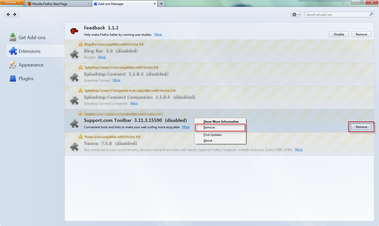 how to uninstall ask toolbar notifier