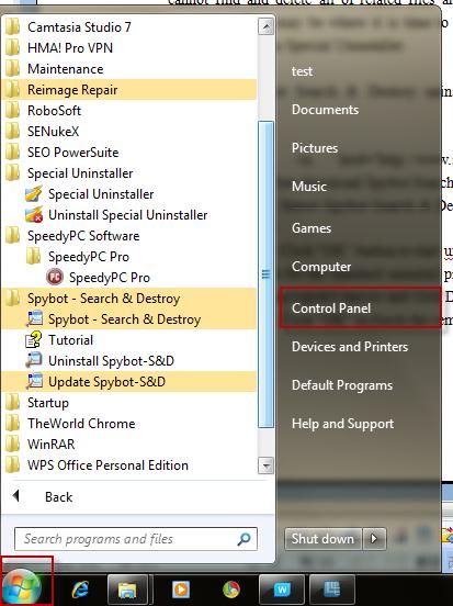 how to manually uninstall a program