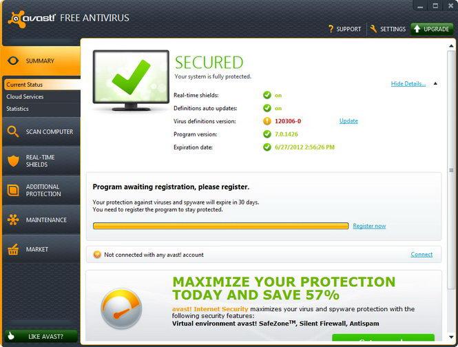 why cant i uninstall avast free antivirus