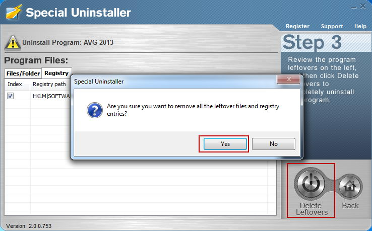how to remove avg files