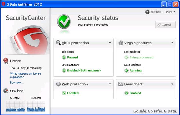 G Data Antivirus 2012