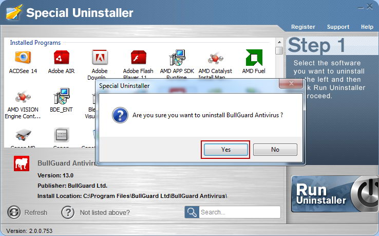 Can't Uninstall BullGuard Anti-virus - How to Uninstall BullGuard Anti-virus