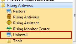 Uninstall_Rising_Antivirus_programs