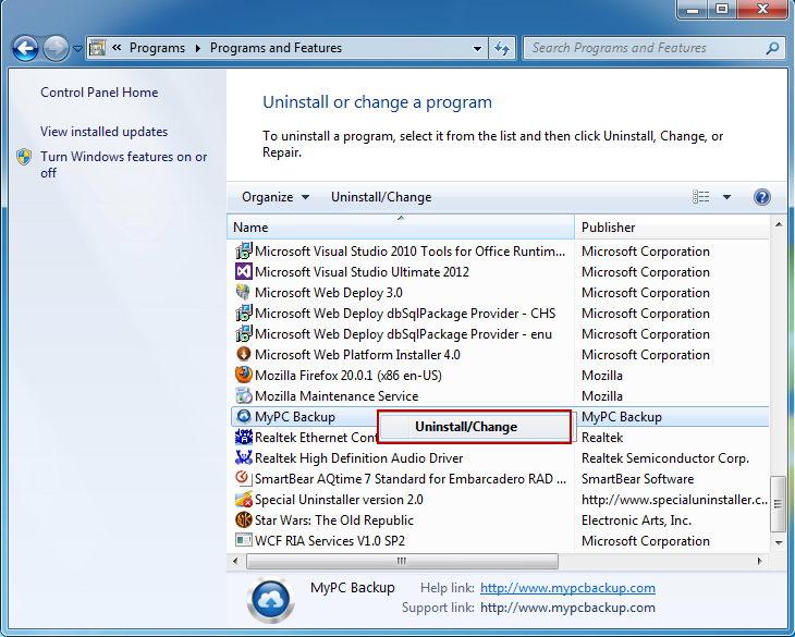 uninstall_MyPCBackup_programs