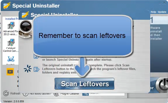 scan leftovers