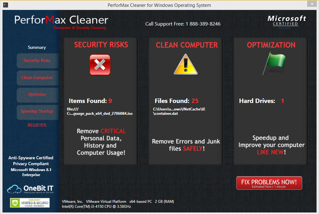 uninstall PerforMax Cleaner