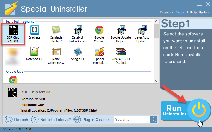 uninstall 3DP Chip with Special Uninstaller (1)