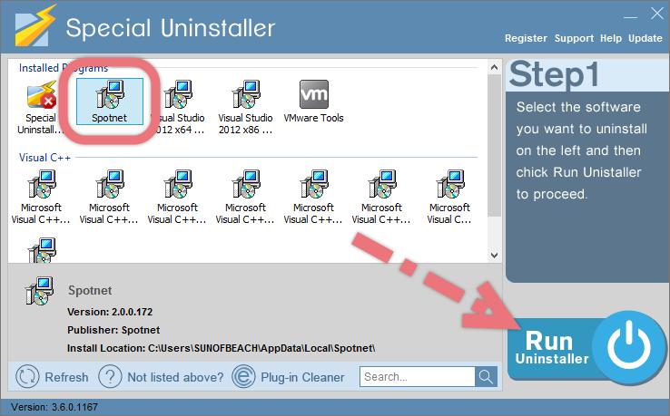 remove-spotnet-versie-2-0-with-su