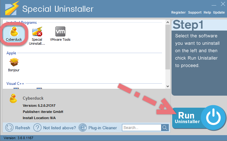 Uninstall Cyberduck with Special Uninstaller.