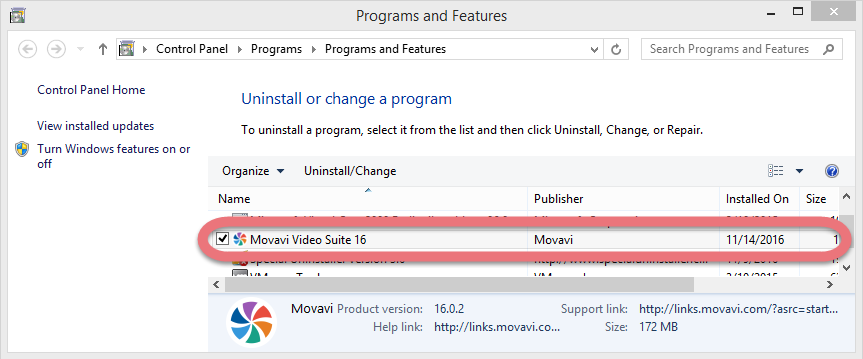 how to uninstall movavi