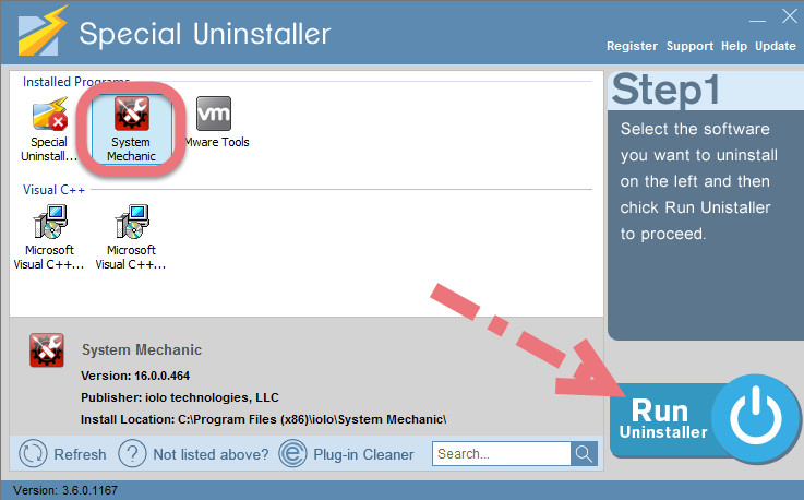 Remove System Mechanic with Special Uninstaller.