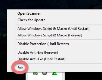 Before you remove Smadav Antivirus 2016, shut it down first.