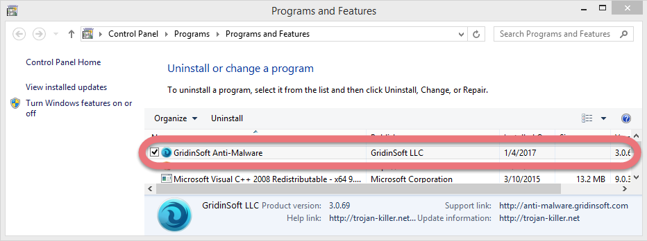 uninstall-gridinsoft-anti-malware