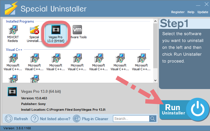 Uninstall VAGAS Pro 14 with Special Uninstaller.