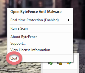 quit-bytefence-anti-malware