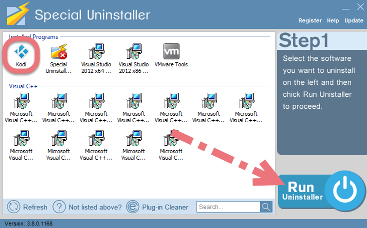 Remove Kodi by using Special Uninstaller.