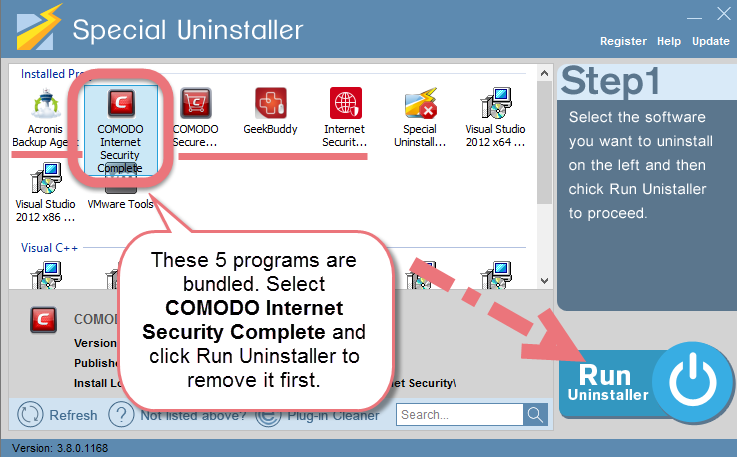 Remove COMODO Internet Security Complete 2017 easily.