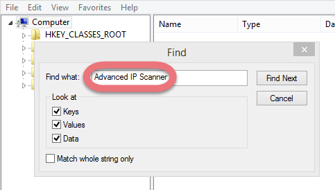 search-for-advanced-ip-scanner-leftovers