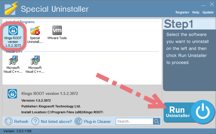 Easily uninstall Kingo Android Root with Special Uninstaller.