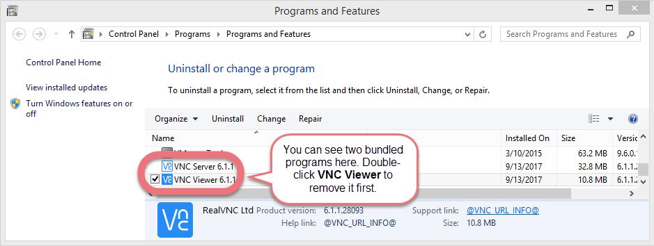 remove-realvnc