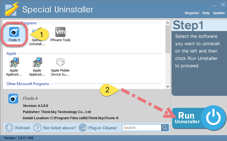 Remove iTools with Special Uninstaller.