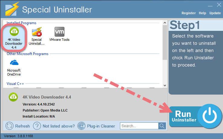 Easily Remove 4K Video Downloader using Special Uninstaller.