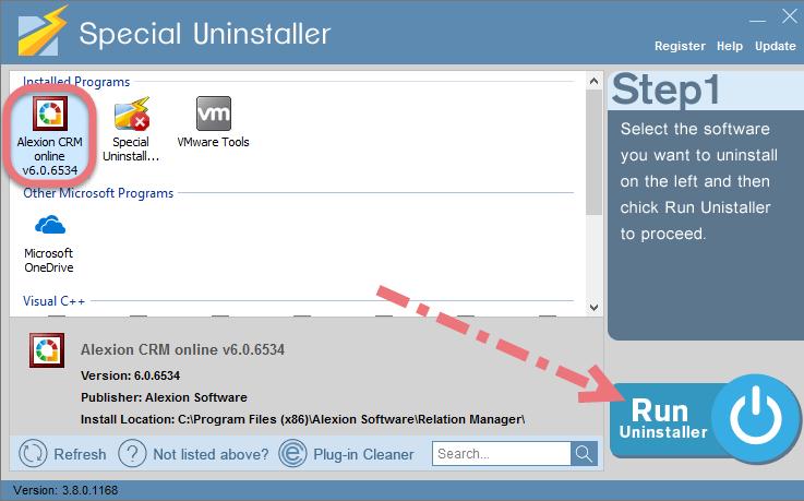Remove Alexion CRM using Special Uninstaller.
