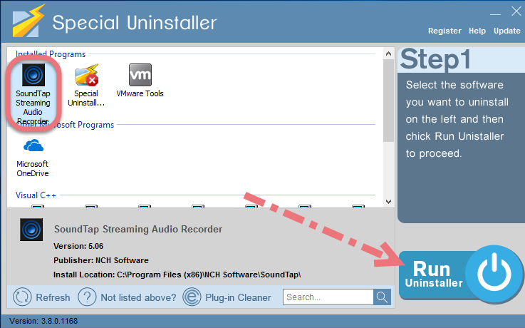 Remove SoundTap using Special Uninstaller.