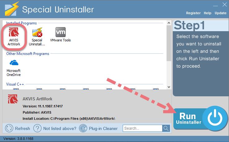 Uninstall AKVIS ArtWork using Special Uninstaller.