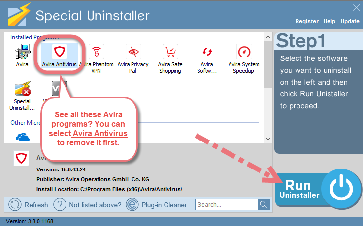 Remove Avira Antivirus 2019 using Special Uninstaller.