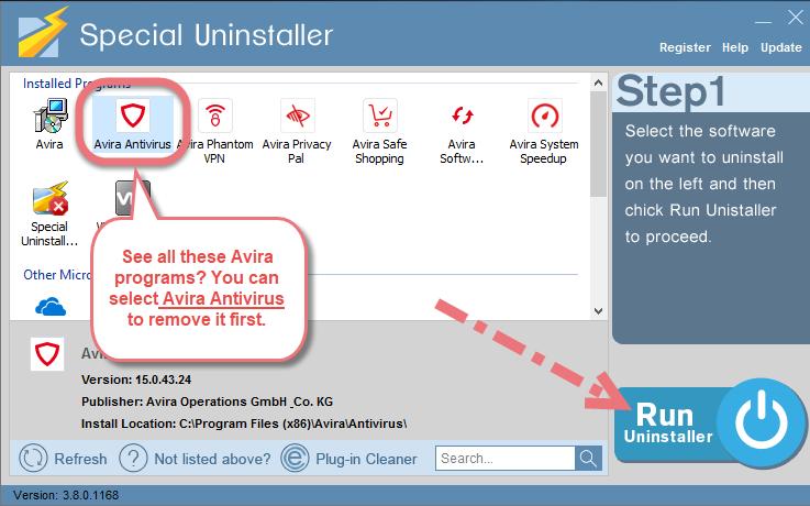 Remove Avira Antivirus 2019 using Special Uninstaller.