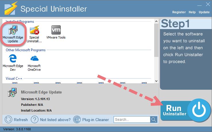 Remove Microsoft Edge using Special Uninstaller.