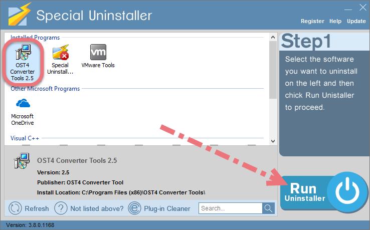 Remove OST4 Converter Tool using Special Uninstaller.