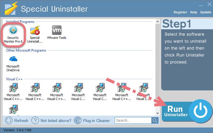 Uninstall Security Monitor Pro using Special Uninstaller.