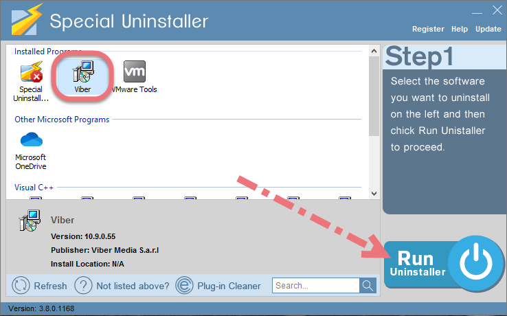 Remove Viber using Special Uninstaller.