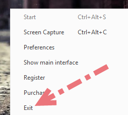 Exit VideoSolo Screen Recorder