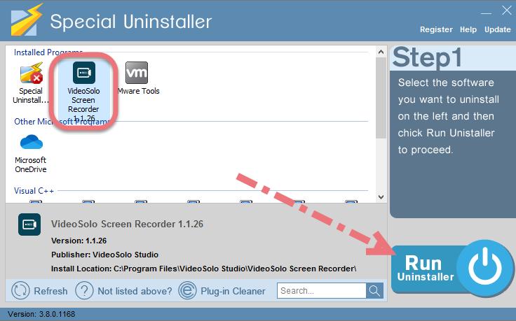 Remove VideoSolo Screen Recorder using Special Uninstaller.