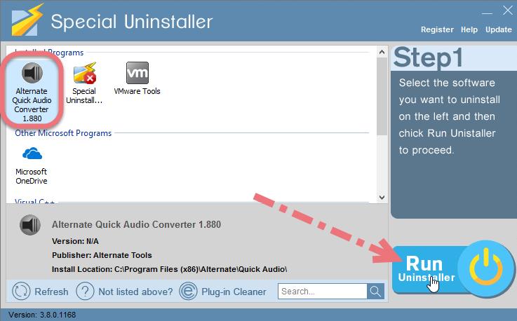 Remove Alternate Quick Audio Converter using Special Uninstaller.