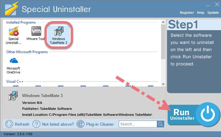 Remove Windows TubeMate using Special Uninstaller