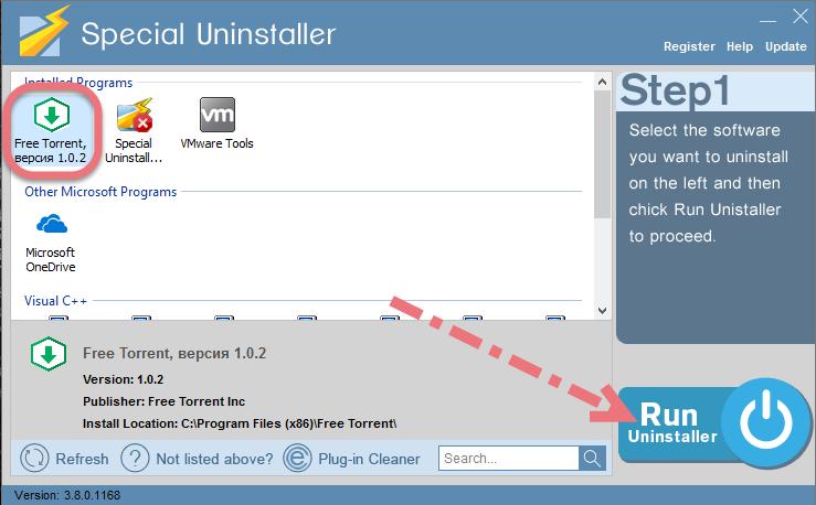 Uninstall Free Torrent using Special Uninstaller.