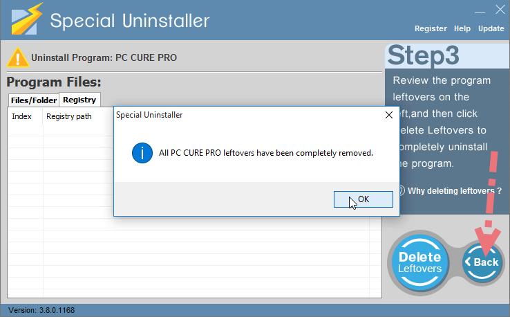 remove-pc-cure-pro-using-su-4