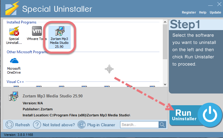Remove Zortam Mp3 Media Studio using Special Uninstaller.